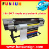 Impressora solvente principal de Funsunjet Fs-1700m 1.7m 1440dpi Dx5/Dx7 Eco para a impressão da etiqueta e da bandeira