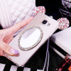 Crystal Bling Luxury Mirror Cell Phone Case para Samsung Galaxy A7100