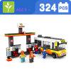 Plastikbus der Kind-324PCS blockt Spielzeug
