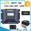 contrôleur solaire MP-1570d de 15A-30A-45A-50A-60A-70A MPPT 12V/24V/48V