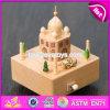 Maravilloso Castillo de dibujos animados para niños juguetes de madera Caja de música W07b047