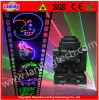 Luz principal móvil del disco del laser de la animación de la insignia