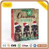 Bolsa de papel, bolsa de papel linda del perro negro de la Navidad pequeña, bolsa de papel del regalo