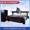 Cortadora oscilante del papel de rodillo de la lámina de la herramienta de la chorreadora del eje de rotación del cuchillo del CNC del elefante 2040 del automóvil del cambiador azul de la herramienta