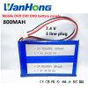 7,4 V polímero 555285 Evd DVD, leitor de DVD portátil painéis da Bateria