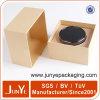 Productos electrónicos que embalan las cajas de papel de encargo cuadradas de Kraft con insignia