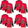 Barato 2018 Nova Marca Ad Mens Sade Kids Calgary chamas 45 Morgan Klimchuk 51 Vidro Tanner 17 Lucas Gaz Civd Vermelho camisolas de Hóquei no Gelo Personalizado