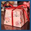 Caja de regalo de boda florales Caja de caramelos de azúcar con cintas