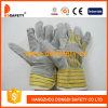 Ddsafety 2017 желтых перчаток безопасности кожаный перчаток коровы
