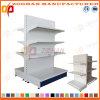 Nuova scaffalatura personalizzata del supermercato del lato del doppio della parte posteriore piana del ferro (Zhs497)
