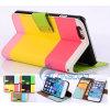 Caja de cuero vendedora caliente de la PU del teléfono de la caja de los accesorios del teléfono del estilo elegante multicolor de la carpeta para el iPhone