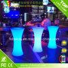 PE 플라스틱 결혼식 나이트 클럽을%s 다채로운 LED 칵테일 바 테이블