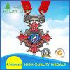 En alliage de zinc la médaille de moulage mécanique sous pression avec évident à l'extérieur le métal