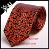 Handmade 100% Silk связи Brown Paisley Mens жаккарда