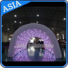 Túnel em mudança da cor inflável interna, túnel Shinning inflável do diodo emissor de luz