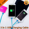 3 в 1 зарядном кабеле USB для iPhone/Android/Типа-C
