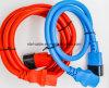 Color azul 220V VDE Homologación 3 patillas IEC C19 C20 C13 C14 Cable de alimentación conector