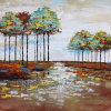 Pintura al óleo abstracta para los árboles (ZH4012)