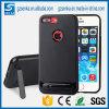 Случай телефона волокна углерода неровный с стойкой на iPhone 7