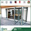 Puerta de cristal del patio del huracán del impacto del doblez de aluminio del BI