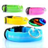 Night Safety LED piscando Glow Nylon Pet Dog Collar