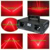 レーザーはシステムに赤い脂肪質のビームレーザー光線を示す