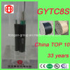 GYTC8S 6 Núcleo autoportante Figura 8 Cable de fibra óptica de fibra de acero de forma para antena