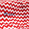 2014 la maggior parte del Popular Baby Minky Fabric Zigzag Chevron Design per Baby Sofa Baby Garment Baby Clothing Red e White