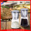Laminatoi industriali della smerigliatrice di pepe del sale di Ceritified della FDA, sale registrabile manuale nero e laminatoio della smerigliatrice di pepe, smerigliatrice di vetro della spezia