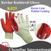 Кевлар перчатки трикотажные перчатки с резиновым покрытием Палм / EN388: 4343