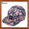 Borda Plana da moda Floral de algodão 5 Instrumentos Hat
