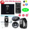 ECG及びPPG K18の最も新しい健康の心拍数のスマートなブレスレット