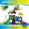 Equipo al aire libre plástico del patio del color de la diapositiva brillante del oscilación para los niños