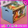 Caja de almacenaje de madera del juguete de la historieta para los cabritos, OEM de madera W08c130 disponible de la caja de almacenaje del juguete de los niños decorativos