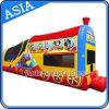 Trem inflável Moonwalk para jogos de entretenimento de festa
