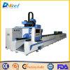 Cadena de producción del tubo del metal cortadora del laser de la fibra de la fibra 500W