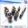 Vlam - Kabel van de Voeder van de ElektroMacht van de Schede van pvc van de Isolatie van de vertrager XLPE de Gepantserde