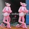 Klare große aufblasbare rosafarbene Leoparden-Zeichentrickfilm-Figur