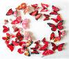 этикеты настенной росписи стикеров стены PVC магнита цветастой бабочки 3D декоративные для комнаты DIY домашнего декора живущий продают оптом