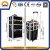 최상 까만 알루미늄 메이크업 트롤리 상자 (HB-3313)