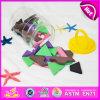 2015 het Hete Stuk speelgoed van de Bouwsteen van het Spel van de Verkoop Grappige Houten, Het Nieuwe Speelgoed van het Blok van de Kinderen van de Stijl in Doos, het PromotieStuk speelgoed W13b014 van het Blok van de Baksteen van Jonge geitjes
