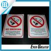 Изготовленный на заказ для некурящих стеклянный символ предупредительного знака стикеров