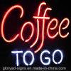 Wasserdichter Kaffee-geöffnetes Zeichen des Neon-LED
