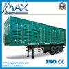강철 Material 50 Tons 3 Axles Cargo 밴 Truck와 Box Trailer
