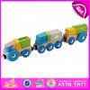 O brinquedo de madeira para o bebê, mini brinquedo de madeira do caminhão quente da tração da venda 2015 do caminhão da tração, finge o brinquedo do caminhão da tração do jogo para as crianças W05c029