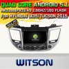 Carro DVD GPS do Android 5.1 de Witson para Hyundai IX35/Tucson 2015 com sustentação do Internet DVR da ROM WiFi 3G do chipset 1080P 16g (A5567)