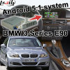 Video interfaccia di HD GPS della casella Android di percorso per BMW E90 schermo Youtube Waze del getto del sistema di 3 Cic di serie