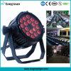 옥외 Epistar LED 단계 점화/18X10W LED 동위 빛