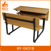 Tubo de acero cuadrado de escritorio con Benchs para la escuela / Mobiliario Escolar el doble de escritorio y silla