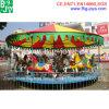 Les enfants manège de chevaux du Carrousel rond-point, parc de loisirs de l'équipement